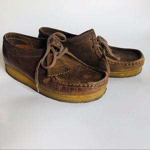 #E7 Clarks Leather Wallabee Size 8